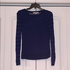 Blue long sleeve blouse/thin sweater. Size small.